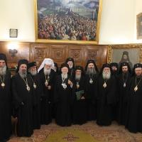 Официален прием на Вселенския патриарх Вартоломей в Синодалната палата_10