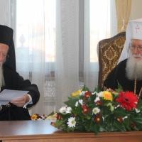 Официален прием на Вселенския патриарх Вартоломей в Синодалната палата_4