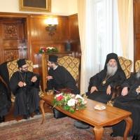 Официален прием на Вселенския патриарх Вартоломей в Синодалната палата_5