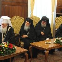 Официален прием на Вселенския патриарх Вартоломей в Синодалната палата_6