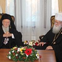 Официален прием на Вселенския патриарх Вартоломей в Синодалната палата_8