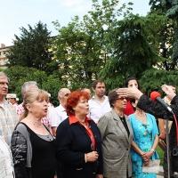 Българският патриарх Неофит освети новопостроения паметник на цар Самуил_10