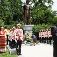 Българският патриарх Неофит освети новопостроения паметник на цар Самуил_1
