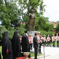 Българският патриарх Неофит освети новопостроения паметник на цар Самуил_4