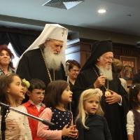 Вселенският патриарх Вартоломей и Българският патриарх Неофит, благословиха децата на загиналите полицаи в България_4