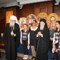 Вселенският патриарх Вартоломей и Българският патриарх Неофит, благословиха децата на загиналите полицаи в България_5