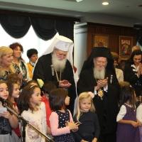 Вселенският патриарх Вартоломей и Българският патриарх Неофит, благословиха децата на загиналите полицаи в България_6