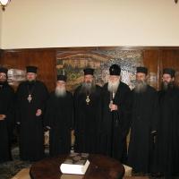 Светогорски монаси при Негово Светейшество патриарх Неофит_12