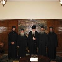 Светогорски монаси при Негово Светейшество патриарх Неофит_13