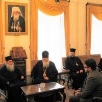 Светогорски монаси при Негово Светейшество патриарх Неофит_2