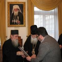 Светогорски монаси при Негово Светейшество патриарх Неофит_4