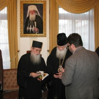 Светогорски монаси при Негово Светейшество патриарх Неофит_6