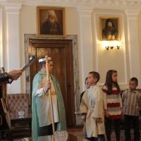 Пасхален поздрав от децата на Горна Малина за Българския патриарх Неофит_10