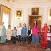 Пасхален поздрав от децата на Горна Малина за Българския патриарх Неофит_11