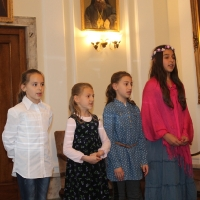 Пасхален поздрав от децата на Горна Малина за Българския патриарх Неофит_13
