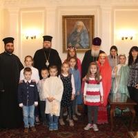 Пасхален поздрав от децата на Горна Малина за Българския патриарх Неофит_15