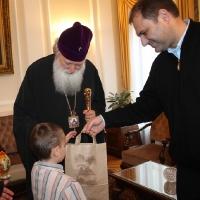 Пасхален поздрав от децата на Горна Малина за Българския патриарх Неофит_16