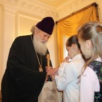 Пасхален поздрав от децата на Горна Малина за Българския патриарх Неофит_17