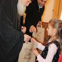 Пасхален поздрав от децата на Горна Малина за Българския патриарх Неофит_18