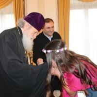 Пасхален поздрав от децата на Горна Малина за Българския патриарх Неофит_19