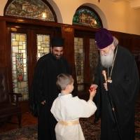 Пасхален поздрав от децата на Горна Малина за Българския патриарх Неофит_1