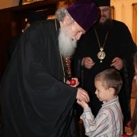 Пасхален поздрав от децата на Горна Малина за Българския патриарх Неофит_3