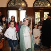 Пасхален поздрав от децата на Горна Малина за Българския патриарх Неофит_5