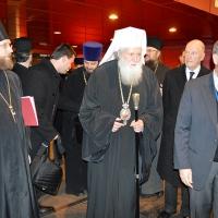 Българският патриарх Неофит пристигна в Москва_1