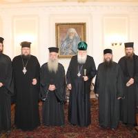 Българският патриарх Неофит прие гръцка делегация водена от проф. протопрезвитер Теодор Зисис_1