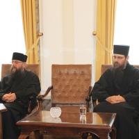 Българският патриарх Неофит прие гръцка делегация водена от проф. протопрезвитер Теодор Зисис_2