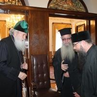 Българският патриарх Неофит прие гръцка делегация водена от проф. протопрезвитер Теодор Зисис_3
