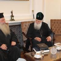 Българският патриарх Неофит прие гръцка делегация водена от проф. протопрезвитер Теодор Зисис_4