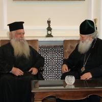Българският патриарх Неофит прие гръцка делегация водена от проф. протопрезвитер Теодор Зисис_5
