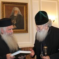 Българският патриарх Неофит прие гръцка делегация водена от проф. протопрезвитер Теодор Зисис_6