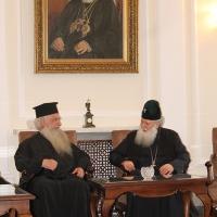 Българският патриарх Неофит прие гръцка делегация водена от проф. протопрезвитер Теодор Зисис_7