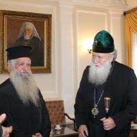 Българският патриарх Неофит прие гръцка делегация водена от проф. протопрезвитер Теодор Зисис_8