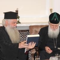 Българският патриарх Неофит прие гръцка делегация водена от проф. протопрезвитер Теодор Зисис_9