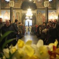 Българският патриарх Неофит отслужи първата част на Богородичния акатист_9