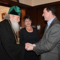 Българският патриарх Неофит прие представители на министерствата на икономиката на България и Молдова_1