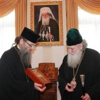 Българският патриарх Неофит се срещна със Запорожския и Мелитополския архиепископ Лука_13
