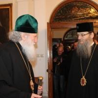 Българският патриарх Неофит се срещна със Запорожския и Мелитополския архиепископ Лука_1