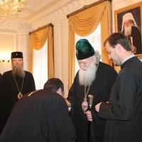 Българският патриарх Неофит се срещна със Запорожския и Мелитополския архиепископ Лука_3