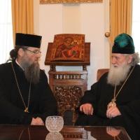 Българският патриарх Неофит се срещна със Запорожския и Мелитополския архиепископ Лука_8