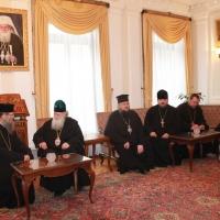 Българският патриарх Неофит се срещна със Запорожския и Мелитополския архиепископ Лука_9