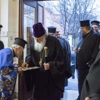 Посрещане на патриарх Неофит в храм Покров Богородичен