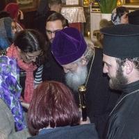 Негово Светейшество сред многобройните вярващи