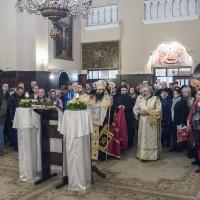 Мелнишки епископ Герасим изпълнява втората статия на Богородичния акатист