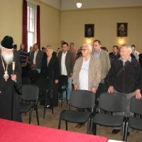 Посрещане на патриарх Неофит в салона на митрополията