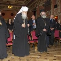 Посрещане на патриарх Неофит залата на конференцията