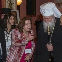 Ефраим Сне, Надя Банчев, Екатерина Дамянова, патриарх Неофит и Моше Алони